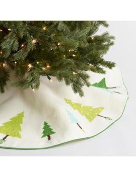 Felted Wool Geometric Tree Skirt by World Market