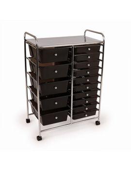 Wido Black Or Clear 15 Drawer Salon Storage Trolley Home Office Organiser by Ebay Seller