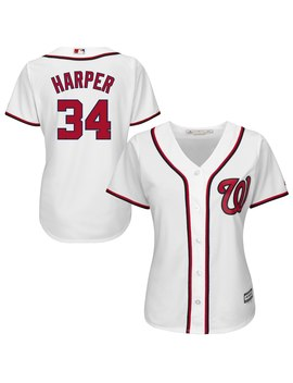 Bryce Harper Washington Nationals Majestic Women's Cool Base Player Jersey   White by Majestic