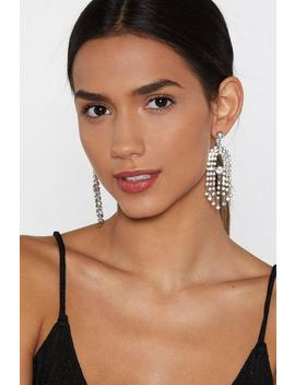 Ear's The Deal Diamante Earrings by Nasty Gal