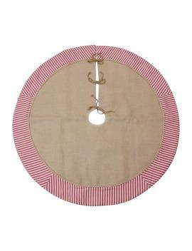 """48"""" Burlap With Ticking Tree Skirt By Ashland™ by Ashland"""