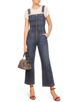 Jenny Zip Front Denim Jumpsuit by Reformation
