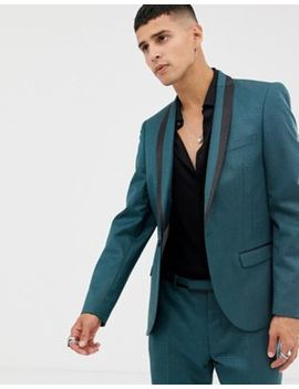 Twisted Tailor Super Skinny Suit Jacket In Two Tone Geo by Twisted Tailor