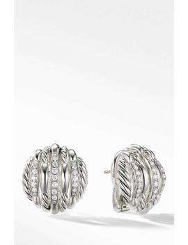 Tides Stud Earrings With Diamonds by David Yurman