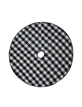 "48"" Black & White Buffalo Check Tree Skirt By Ashland™ by Ashland"
