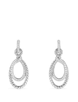Continuance Drop Earrings With Diamonds by David Yurman