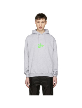 Ssense Exclusive Grey & Green Signal Hoodie by All In