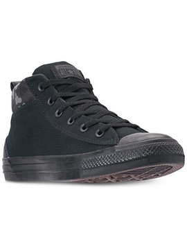 Men's Chuck Taylor All Star Street Mid Combat Zone Casual Sneakers From Finish Line by Converse