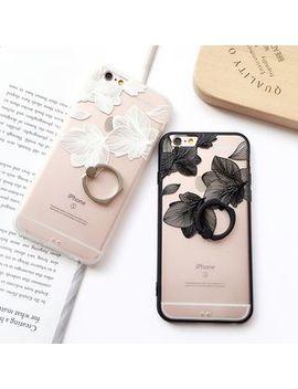 Rougi   Flower Print Phone Case   I Phone 6 / 6 S / 6 Plus / 7 / 7 Plus / 8 / 8 Plus by Rougi