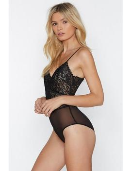 Last Dance Lace Bodysuit by Nasty Gal