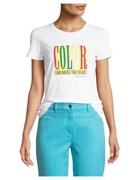 Color Can Raise The Dead Crewneck Short Sleeve Cotton Tee by Iris Barrel Apfel