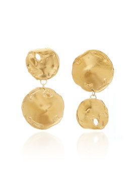 The Flame 24 K Gold Plated Earrings by Alighieri