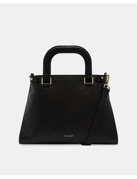 Padded Handle Leather Tote Bag by Ted Baker
