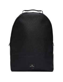 Black Grained Leather Backpack by Ps By Paul Smith