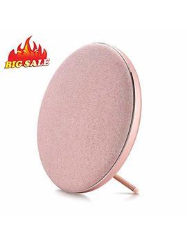 Fashion Bluetooth Speakers, Jonter Round Wireless Speakers (Rose Gold) by Jonter