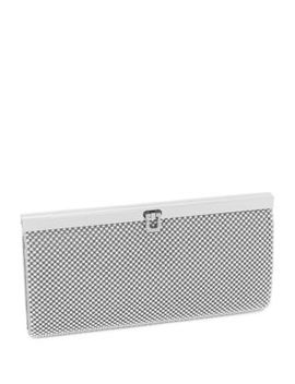 Beaded Mesh Clutch by La Regale