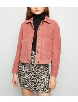 Pink Patch Pocket Corduroy Jacket by New Look