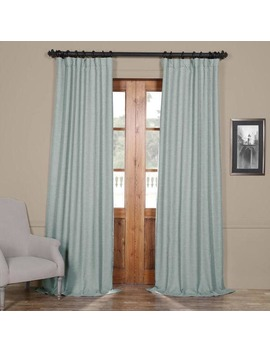 Exclusive Fabrics Gulf Blue Bellino Blackout Curtain Panel by Exclusive Fabrics
