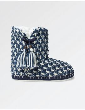 Poppy Tassel Slipper Boots by Fat Face