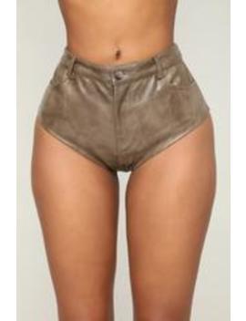 Myah Mini Shorts   Olive by Fashion Nova