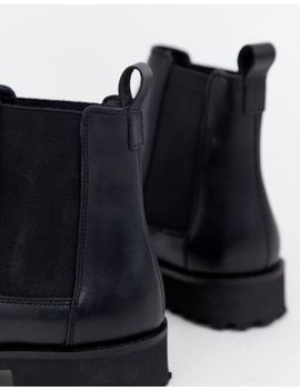 Asos Design Addie Leather Chunky Chelsea Boots by Asos Design