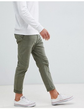 New Look Tapered Chinos In Khaki by New Look