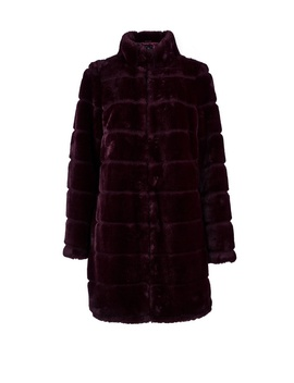 Berry Carved Faux Fur Coat by Dorothy Perkins