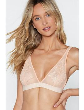 If You Appliqué Sheer Bralette by Nasty Gal