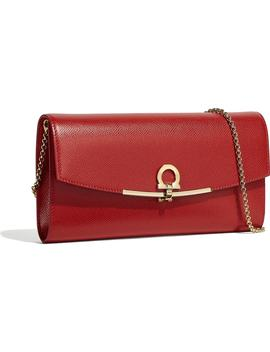 Gancio Calfskin Leather Clutch by Salvatore Ferragamo