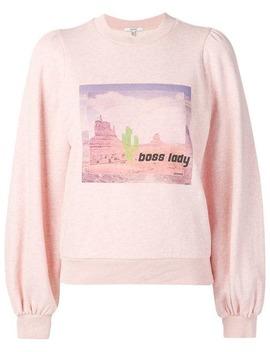 """Puffed """"Boss Lady"""" Sweatshirt by Ganni"""