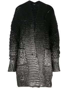 Foil Print Chunky Knit Cardigan by Diesel
