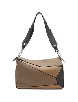Taupe Xl Puzzle Bag by Loewe
