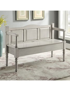 August Grove Humphery Wood Storage Bench by August Grove