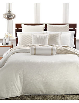 Woven Texture King Duvet Cover by Hotel Collection