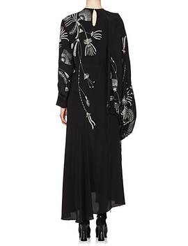 Floral Silk Crepe Gown by Dries Van Noten