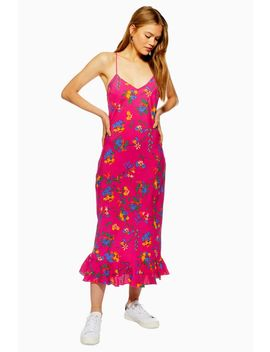 Bright Floral Print Slip Dress by Topshop