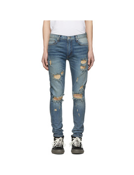 Indigo Distressed Jeans by Nahmias