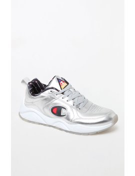 Champion 93 Eighteen Silver Metallic Leather Shoes by Pacsun