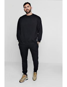 Oversized Fleece Sweater Man Tracksuit by Boohoo