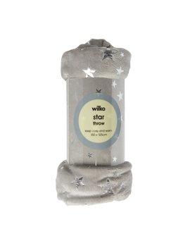 Wilko Star Foil Grey Throw 125 X 150cm Wilko Star Foil Grey Throw 125 X 150cm by Wilko