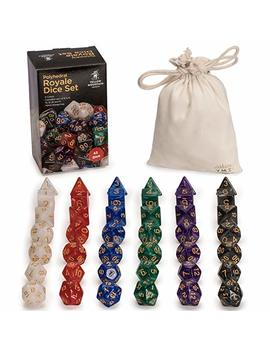 Yellow Mountain Imports 42 Polyhedral Dice, 6 Colors With Complete Set Of D4, D6, D8, D10, D12, D20, And D Percents by Yellow Mountain Imports