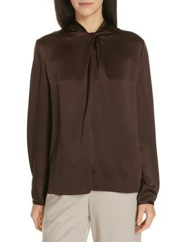 Neck Knot Silk Blouse by Vince