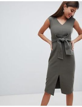 Closet London Dress With Waist Tie by Closet