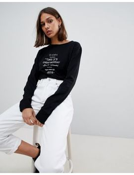Cheap Monday Beside Language Long Sleeved T Shirt by  Cheap Monday