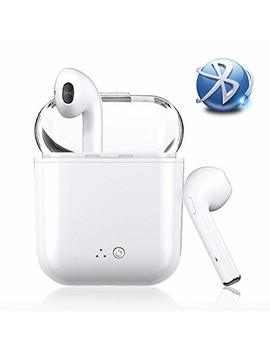 Bluetooth Earbuds Wireless Earbuds Bluetooth Headphones Mini In Ear Earphones Stereo Noise Canceling With Charging Case For All Bluetooth Device (White) by Itin
