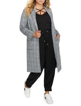 Plus Jacquard Long Jacket by Addition Elle Michel Studio