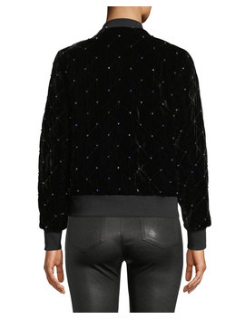 Meredith Velvet Bomber Jacket With Rhinestones by Parker