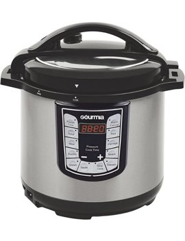 6 Quart Pressure Cooker   Stainless Steel/Black by Gourmia