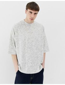 Asos Design Oversized T Shirt In Towelling In Textured Gray by Asos Design