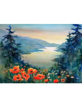 Columbia Gorge 385   Signed Watercolor Print   Bonnie White   Columbia Gorge   National Scenic Area   Watercolor Paintings by Etsy